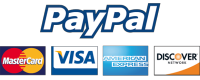 We accept Paypal and all major bank cards!