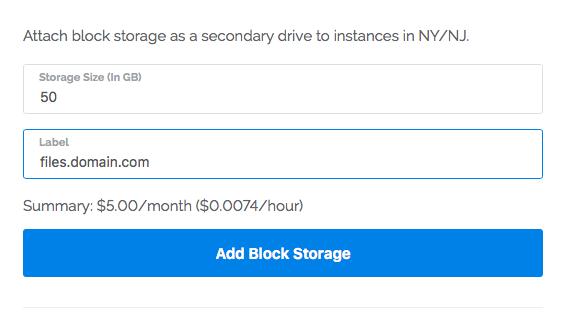Attach Vultr block storage