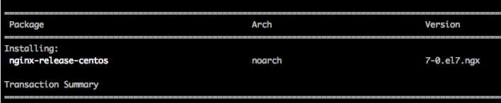 Install nginx YUM repository on CentOS 7