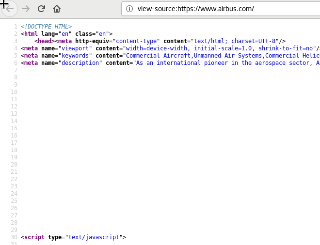 Large chunks of whitespaces in Airbus website