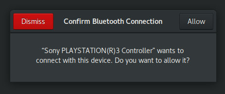 PS3 controller connecting to CentOS/RHEL