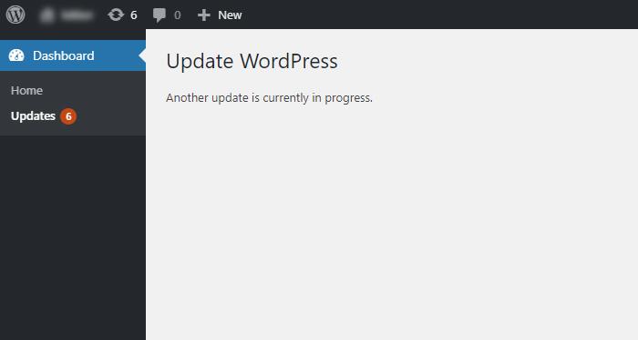Another update in progress error